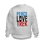 Peace Love Trek Kids Sweatshirt