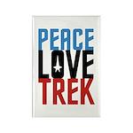Peace Love Trek Rectangle Magnet (10 pack)