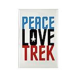 Peace Love Trek Rectangle Magnet (100 pack)