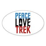 Peace Love Trek Sticker (Oval 50 pk)