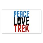Peace Love Trek Sticker (Rectangle 10 pk)