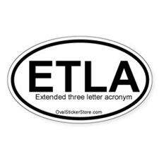 Extended 3-letter Acronym Oval Decal