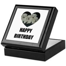 HAPPY BIRTHDAY BICHON PUPPIES Keepsake Box