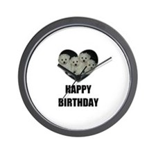 HAPPY BIRTHDAY BICHON PUPPIES Wall Clock