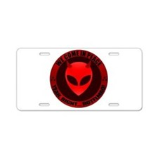 EA - We come in peace - Aluminum License Plate