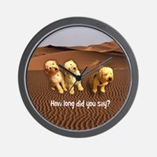 Sit Stay Labradoodles Wall Clock