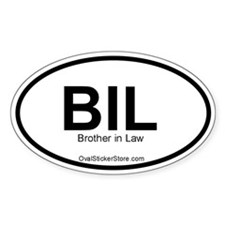 Brother-in-law Acronym Oval Decal
