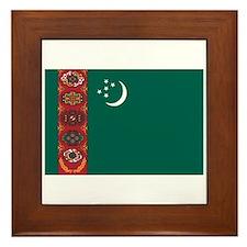 Turkmenistan Flag Framed Tile