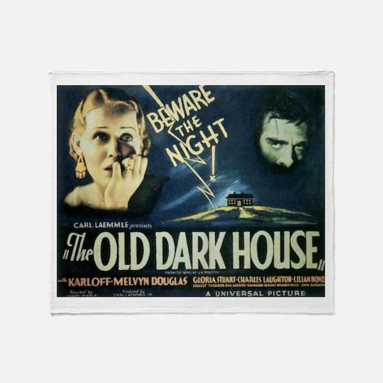 The Old Dark House Throw Blanket