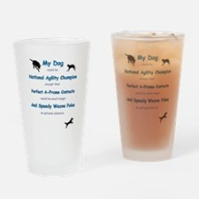 Agility Humor Drinking Glass