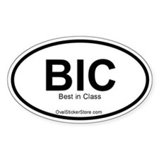 Best in class Acronym Oval Decal