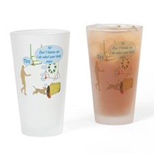 Do What Your Body Says Drinking Glass