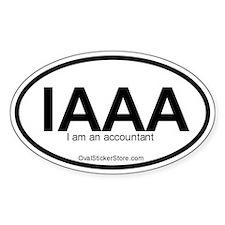 I am an accountant Acronym Oval Decal