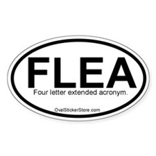 Four letter extended Acronym Oval Decal