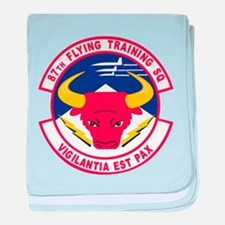 87th Flying Training Squadron baby blanket