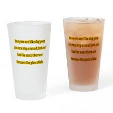 Lawyers Like Poop Drinking Glass
