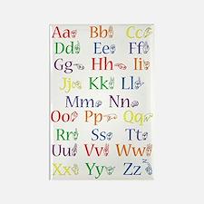 ASL Alphabet - Rectangle Magnet