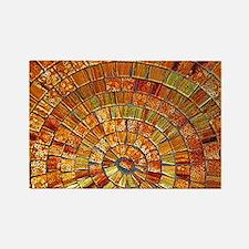 Balinese Glass Tile Art - BRN Rectangle Magnet