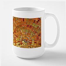 Balinese Glass Tile Art - BRN Large Mug