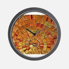 Balinese Glass Tile Art - BRN Wall Clock