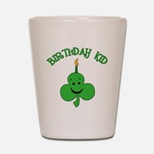 Birthday Kid with Happy Shamrock Shot Glass