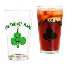 Birthday Baby St Pat's Day Drinking Glass