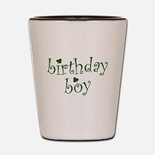 St. Patricks Day Birthday Boy Shot Glass