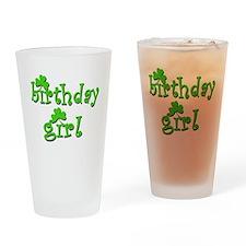 Irish Birthday Girl Drinking Glass