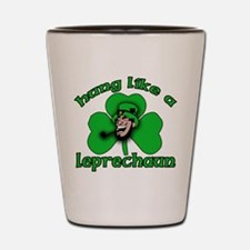 Hung Like a Leprechaun Shot Glass