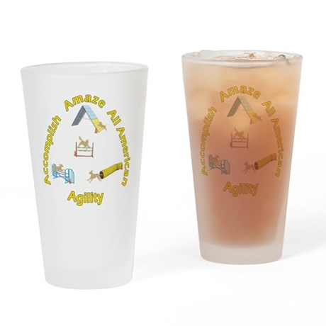 Agility Mutts Drinking Glass