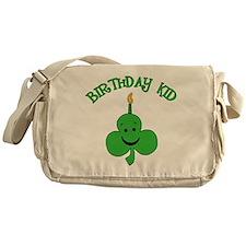 Birthday Kid with Happy Shamrock Messenger Bag