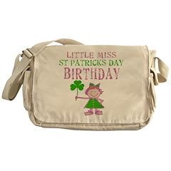 Little Miss St. Patrick's Day Birthday Messenger B