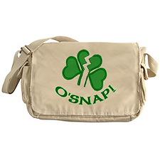 O'Snap Funny Shamrock Messenger Bag