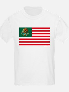Mexican American Flag Kids T-Shirt