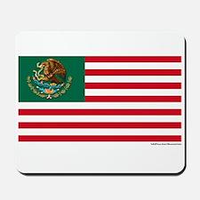 Mexican American Flag Mousepad
