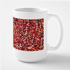 Balinese Glass Tile Art-RED Large Mug