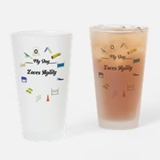 Agility Circle Your Text Drinking Glass