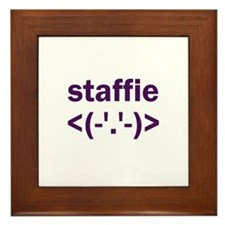 Staffie Dog Framed Tile