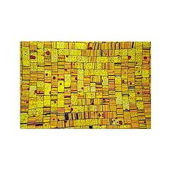 Balinese Glass Tile Art-YEL Rectangle Magnet (100