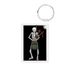 Bagpiper Skeleton Keychains