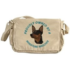 Proudly Owned Min Pin Messenger Bag