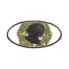 Labrador Retriever Xmas Wreath Patches