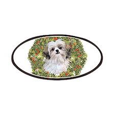 Shih Tzu Xmas Wreath Patches