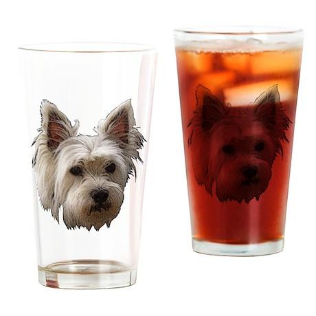 Westie Drinking Glass