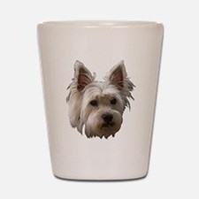 Westie Shot Glass