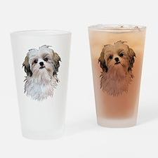 Shih Tzu Lover Drinking Glass