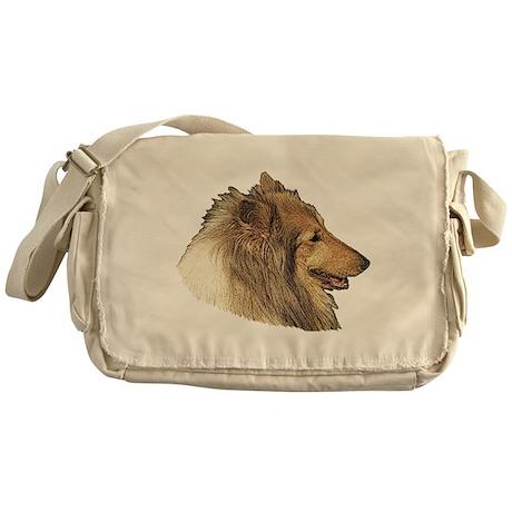 Rough Collie Messenger Bag