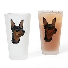 Miniature Pinscher Drinking Glass