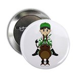 "Cute Jockey and Horse 2.25"" Button (10 Pk)"