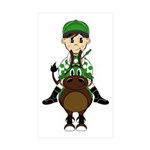 Cute Jockey and Horse Sticker (50 Pk)
